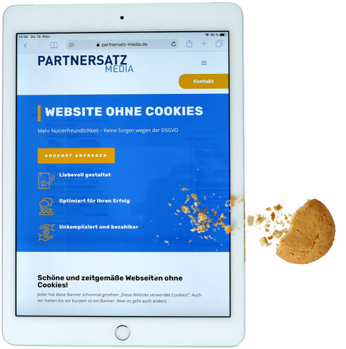 Website ohne Cookies Illustration